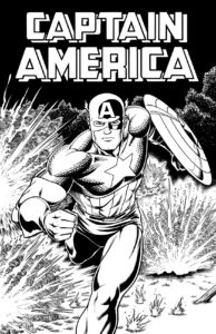Captain America with Hand-drawn Logo