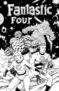 Fantastic Four with Hand-drawn Logo